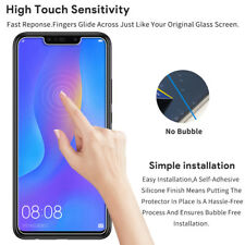 UNEXTATI 2 Pack Huawei P Smart 2019 Screen Protector, HD 3D Touch Tempered Glass Film 9H Ultra Clear Tempered Glass for Huawei P Smart 2019 Anti-Shatter