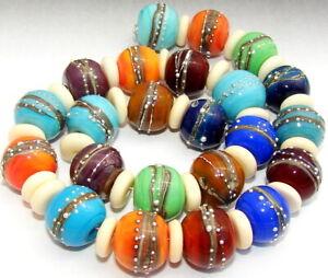 "Sistersbeads ""N-Sonoran Desert"" Handmade Lampwork Beads"