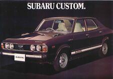 SUBARU 1600 Custom 4-dr 1978-79 ORIGINALE UK SALES BROCHURE