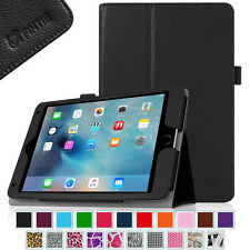 For Apple iPad Folio Case Cover Stand Vegan Leather with Stylus Holder