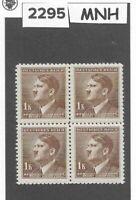 MNH Stamp block 1.00KR 1942 Third Reich / Adolph Hitler / WWII German Occupation
