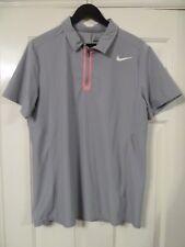 ROGER FEDERER Australian open 2013 da collezione Nike Tennis Shirt Grigio/Rosa Grande