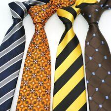 Neck Ties For Men 8CM Jacquard Necktie Striped Silk Mens Ties Floral Neckwear