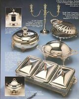 VINTAGE AD SHEET #1981 - SHEFFIELD SILVERPLATED GIFTWARE - CENTERPIECE