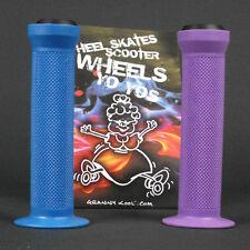 GK Scooter Handlebar Grips Combo Blue Purple + bar ends