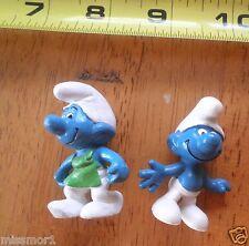 Smurfs 1990s figures lot of 2 theme NICE!