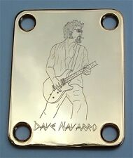 Engraved Etched GUITAR NECK PLATE Fender Size - DAVE NAVARRO - GOLD