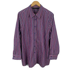 Maggie T Womens Blouse Plus Size 20 Multicoloured Striped Long Sleeve Collared