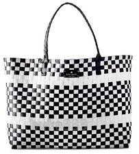 KATE SPADE New York Black White Tote Multi-Color Weekender Beach Shopper bag NEW