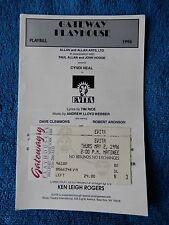 Evita - Gateway Playhouse Theatre Playbill w/Ticket - May 2nd, 1996 - Cyndi Neal