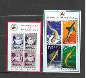 Nicaragua-  Lot 613, Mint, NH.  Air Mail Blocks