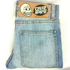 Cheap Monday Size 28/32 Womens High Rise 'Tight Used Washed' Skinny Jeans Blue