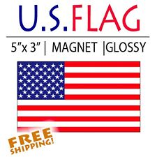 "1 piece 5"" American Flag Magnet Thick Patriotic military Usa Us Glossy"