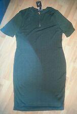 Atmosphere Khaki Bodycon Dress Size 18 BNWT