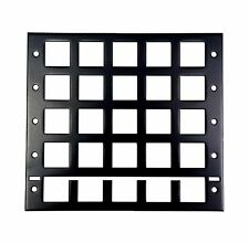 1pc Black Metal Panel Frame for White Keyboard 5x5 keys 25 keys non Switch