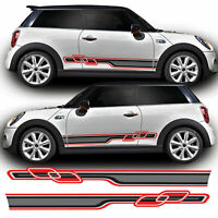 Race Side Stripes For F56 Mini Cooper S JCW, One Vinyl Decal Sticker Graphics