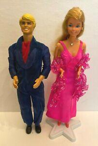 Vintage 1976 Mattel Superstar Barbie & Ken Doll #9720 #2211 w/ Original Outfits