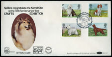 Irish Red Setter CRUFTS DOG SHOW FIRST DAY COVER 1979 + Welsh Springer Spaniel