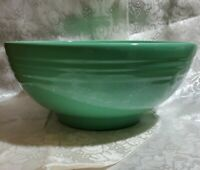 "VINTAGE HAEGER serving Bowl Green Glazed Pottery USA large 11"" perfect antique!!"