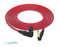 Mogami 2534 Quad Cable | Neutrik Gold 90º TRS to 90º XLR-F | Red 2 Feet 2 ft.