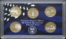 USA 2000 S Mint 5 COIN 50 STATE QUARTER PROOF YEAR SET - Sealed