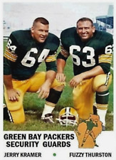 """""""PACKERS SECURITY GUARDS"""" JERRY KRAMER FUZZY THURSTON 61 ACEO ART CARD"""