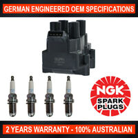 4x Genuine NGK Spark Plugs & 1x Ignition Coil for Holden Astra TR 1.8i/SRi 1.8L