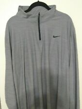 Nike Men's Breathe Dry 1/4 Zip Training Pullover Size Small Grey 940177 027