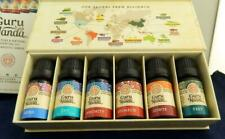Guru Nanda 100% Pure & Natural ESSENTIAL OIL 6 Pack w Magnetic Case- Great Gift!