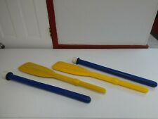 Canoe Boat Inflatable Boat Raft Sport Oars 1 Pair 43 Inch 2 Pieces Blue Yellow
