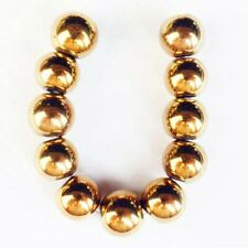 11Pcs/set 8mm Gold Hematite Round Ball Pendant Bead F40909