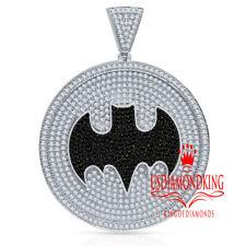 Mens Real Silver Exclusive Custom Piece Batman Pendant Charm Medallion Big 3''