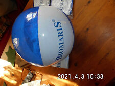 2 x BIOMARIS großer aufblasbar WASSERBALL blau weiß  Umfang ca. 94 cm NEU