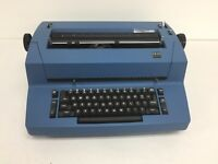 Vintage IBM Selectric II Blue Lexmark Electric Typewriter Machine