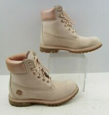 Ladies Timberland Pink Leather Lace Up Boots Size : 7 M