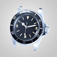 Mens Vintage Diver Watch Faux Patina Parnis Homage Sterile Dial Automatic