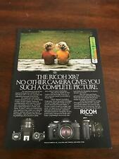 1982 VINTAGE 8X11 PRINT Ad RICOH XR-7 CAMERA SUCH A COMPLETE PICTURE BOY&GIRL