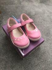 Clarks Pre Girls  Light Pink LilfolkPeg Shoes UK 7 Brand New RRP £36