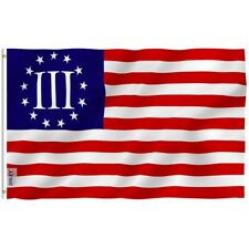 ANLEY Nyberg Three Percent Flag Betsy Ross Banner Polyester 3x5 Foot Flags