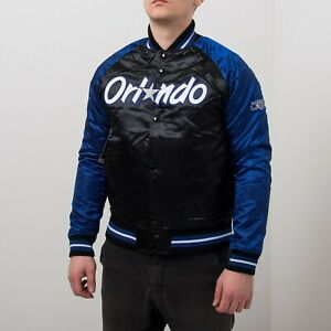 Mitchell & Ness NBA Orlando Magic Tough Season Satin Jacket Men's Black Varsity