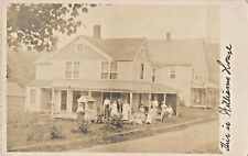 """""""This Is Williams House"""", Family Posing, Summitville, New York NY RPPC 1911"""