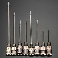 10pcs Stainless Steel Syringe Dispensing Blunt Needle Tip Pin Adhesive 8 sizes