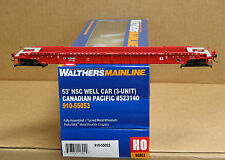 Walthers 910-55054 HO Canadian Pacific 53' NSC well car (3-unit)  #523172