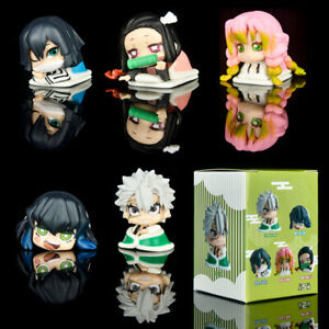 5pcs Demon Slayer Kamado Nezuko Tomioka Giyuu Kanroji Mitsuri Anime Figure Toys