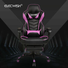 Video Racing Gaming Chair Ergonomic Computer Desk Swivel Recliner PU Leather UK