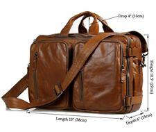 J.M.D 3-Use Genuine Leather Men's Handbag Messenger Shoulder Bag Backpack