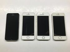 Lot of 4 Non working iPhone 5S For Parts Only AS-IS Cracked Screen etc