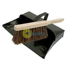 Strong Trade Metal Dustpan And Stiff Wooden Hand Brush Dustpan Set