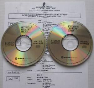 PETER FRAMPTON Westwood One Superstar Concert Series 2xCD LIVE in Ventura 1992