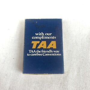 Vintage TAA Airline Matchbox with Matches